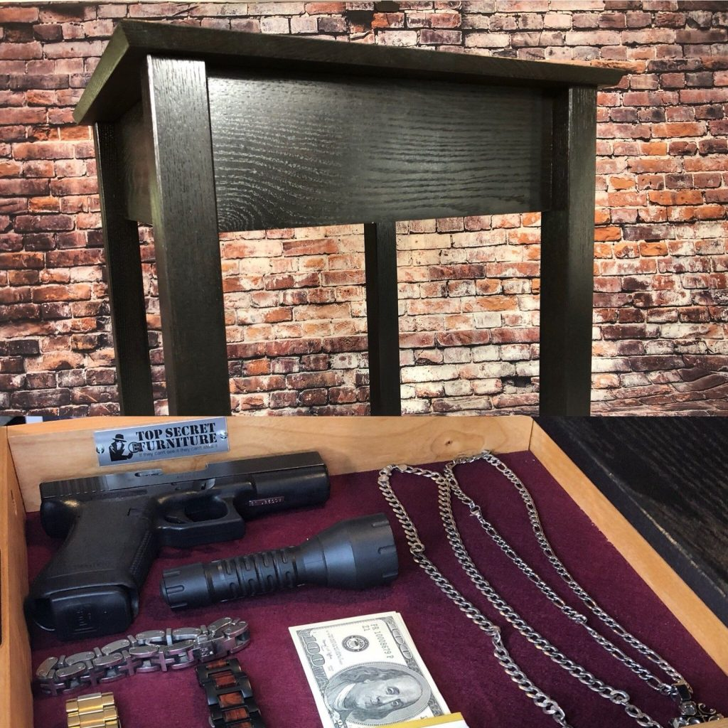 End Table With a Hidden Surprise, a Locked Gun Drawer
