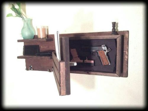 Wall Unit with a hidden gun compartment