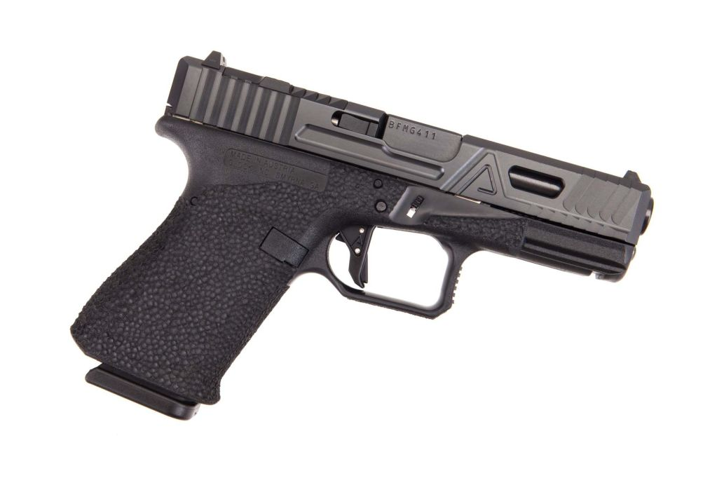 Agency Arms Urban Combat. A custom Glock 19 with a fearsome reputation for accuracy, reduced recoil and repetition.