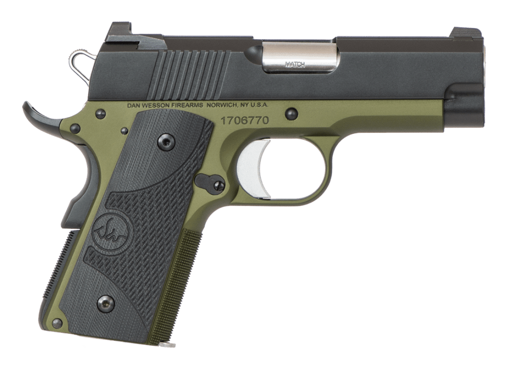Dan Wesson Eco - A shrunken 1911 for sale and one of the best 45 ACP subcompact