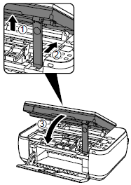 How do I change the ink cartridge in my Canon PIXMA MP495