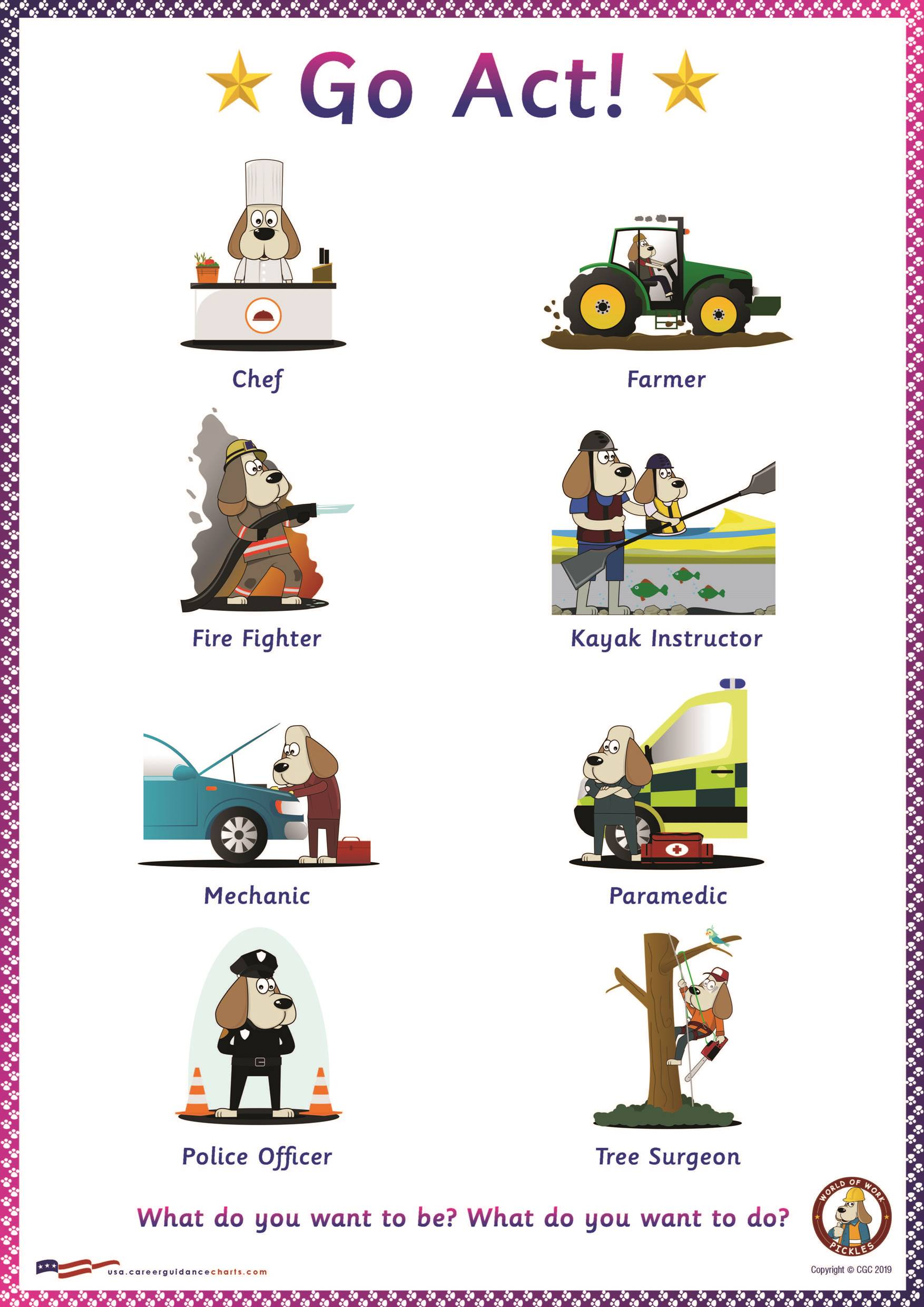 Career Education Poster For Kindergarden And Elementary School