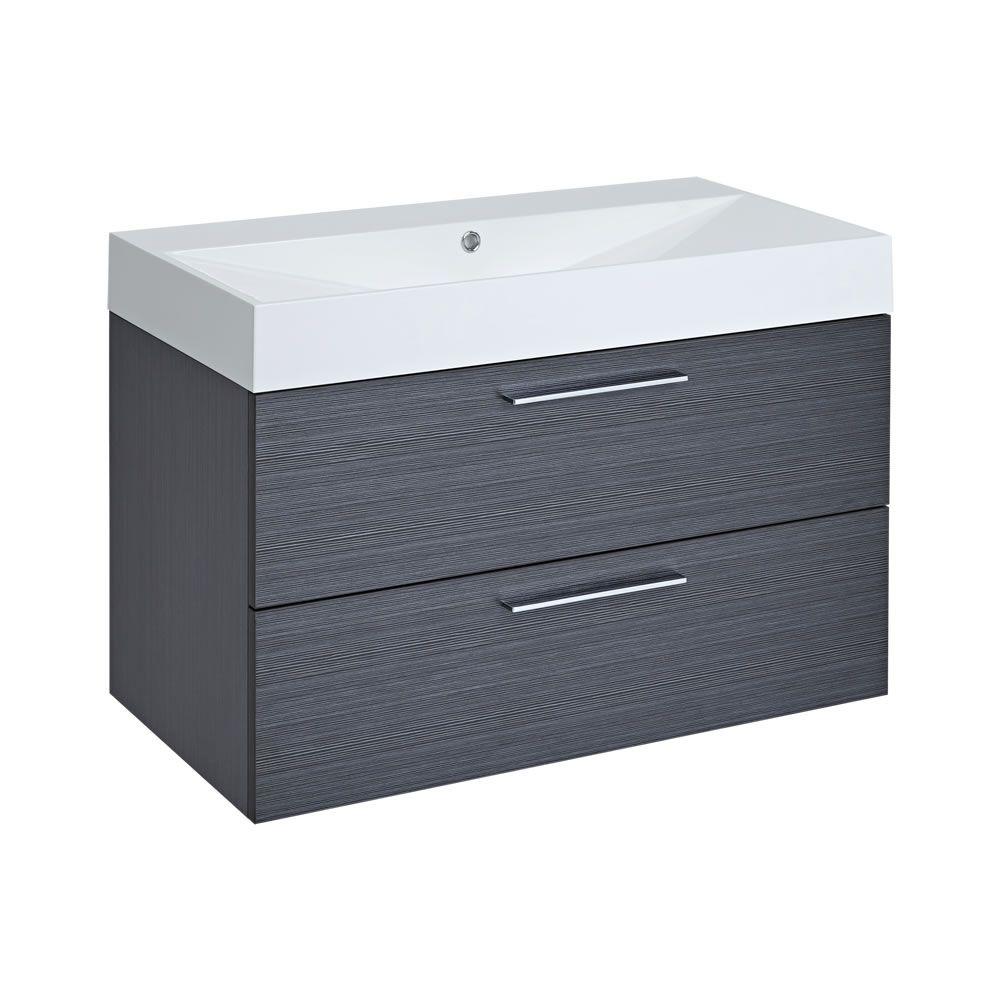 gray bathroom with wall mount towel warmer contemporary