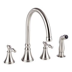 Widespread Kitchen Faucet High Top Tables With Side Spray