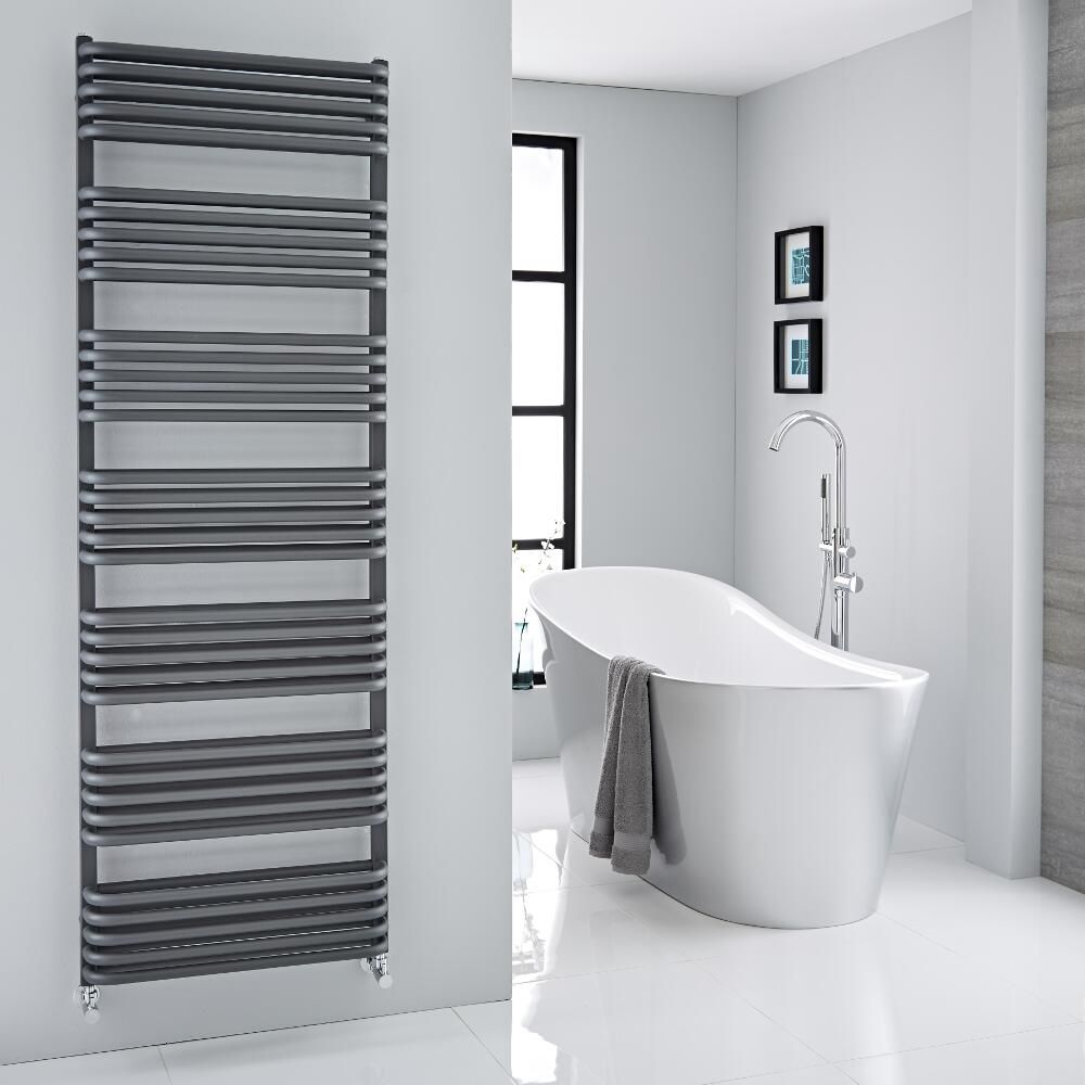 Arch  Anthracite Hydronic Heated Towel Warmer  7075 x