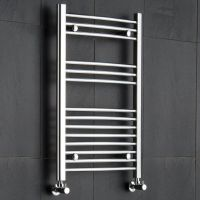 "Curved Heated Towel Rack 19.75"" x 31.5"" - Chrome Finish"
