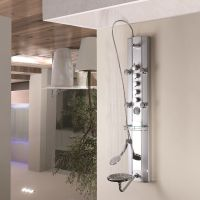 Aluminum Panel Tower Fixed OverHead Shower Handset Body ...