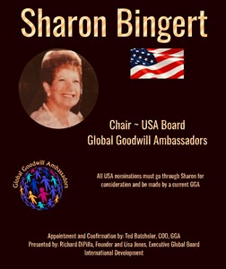 Sharon Bingert - Chair - US Board Global Goodwill Ambassadors