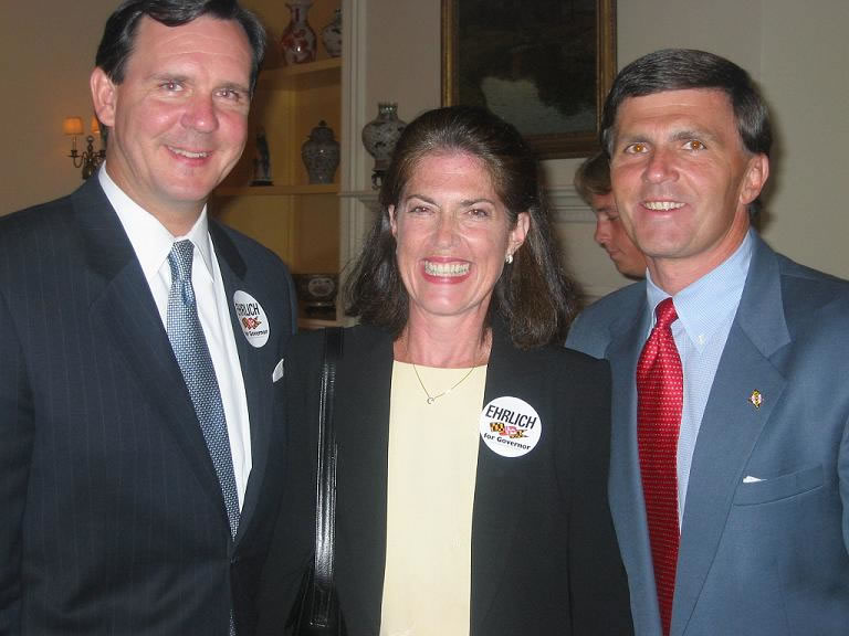 Governor Ehrlich raising campaign funds at Columbia Country Club- Photo by Patricia Metzger via ##http://www.actfortransit.org/archives/election/purpleline2010.html##ACT for Transit##