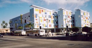 Hollywood Transit Village, a model of affordable housing near transit. HUD is working with communities to ensure that transit doesn't force out existing residents. Photo: