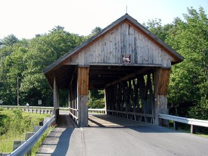 Even historic bridges like this one can be retrofitted to accommodate cyclists and pedestrians. Image: ##http://www.pedbikeimages.org/pubdetail.cfm?picid=797##www.pedbikeimages.org## / Dan Burden