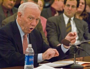 Outgoing Transpo Committee Chair Jim Oberstar got what he wanted: a yearlong extension. (Though he would have preferred a six-year reauthorization.) Image: ##http://areavoices.com/CapitolChat/?blog=56262##Capitol Chatter##