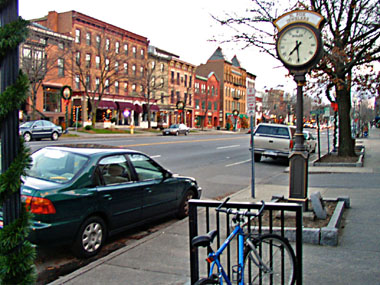 Compact development means fewer vehicle miles traveled - a recipe for lower emissions. Image: ##http://www.dec.ny.gov/lands/45970.html##NY Dept. of Environmental Conservation##