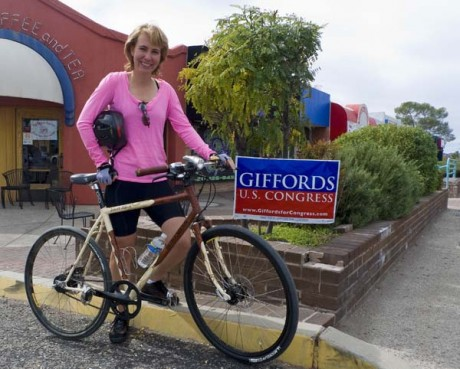 Photo from ##http://tucsonvelo.com/news/congresswoman-giffords-talks-bikes/4153###Tucson Velo##