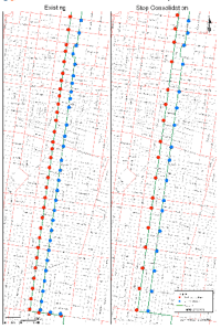 A map of stop consolidation along the 47 route. Image courtesy of SEPTA and the city of Philadelphia