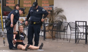 A 25-year-old jogger was arrested in an Austin Police sting on jaywalkers. Image: KXAN Austin