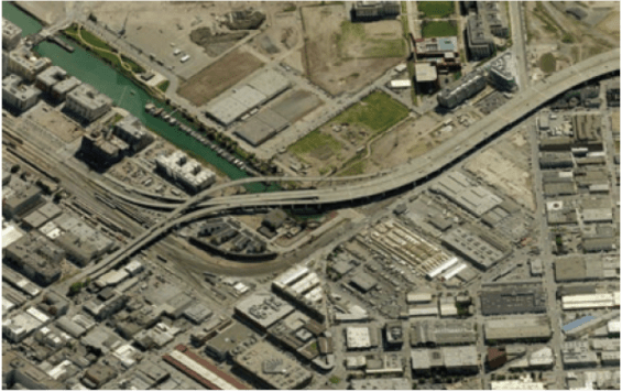 Tearing down I-280 in San Francisco would add nearly $100 million to surrounding land values, a city study found. Image: CNU