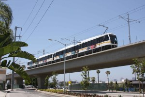 Transit expansions, like LA's expo line, which opened in 2012, helped boost transit ridership to levels not seen in 57 years. But will the federal funding crisis keep transit from flourishing? Photo: ##http://thesource.metro.net/tag/expo-line-testing/##The Source##
