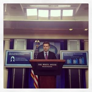 "Josh Earnest, on his first day as White House press secretary, said the president ""would not support"" a gas tax hike. But other officials have softpedaled the question. Photo: ##https://www.facebook.com/topic/White-House-Press-Secretary/108184749201716##Tamara Keith/Facebook##"