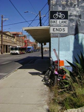 The blog Bike San Antonio called the South Flores Street bike lane the best thing the city had ever done for cyclists. Photo: Bike San Antonio