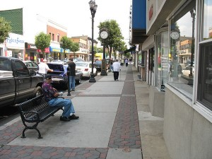 Local communities do a good job channeling limited federal funds into small-scale, big-impact projects like this streetscape project in Bayonne, New Jersey. Photo: ##http://images.ta-clearinghouse.info/1-Ped-Bike-Facilities/Bayonne-StreetscapeBayonne-NJ/##TrADE##