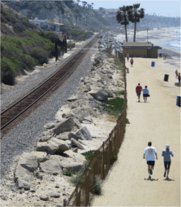 I have the chance to walk San Clemente, California's rail-trail