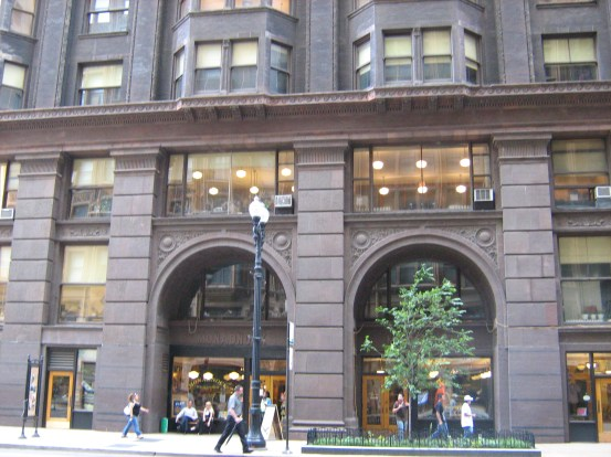 Chicago's 17-story Monadnock building provides pedestrians with an interesting architectural experience and retail amenities at their eye level, despite being almost 200 feet tall. Photo: ##http://en.wikipedia.org/wiki/Monadnock_Building#mediaviewer/File:Monadnock_Building_East_Facade.jpg##Wikipedia##