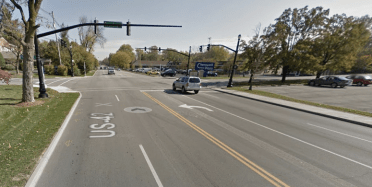 The Kentucky Department of Transportation objects to street trees on this stroad. Image: Google Maps