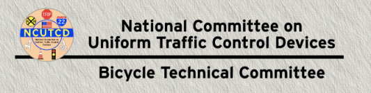 This is the masthead for the website of the bicycle committee of the National Committee on Uniform Traffic Control Devices. Apparently this group's attitudes about bike infrastructure are not much more advanced then its website. Image: NCUTCDBTC.org