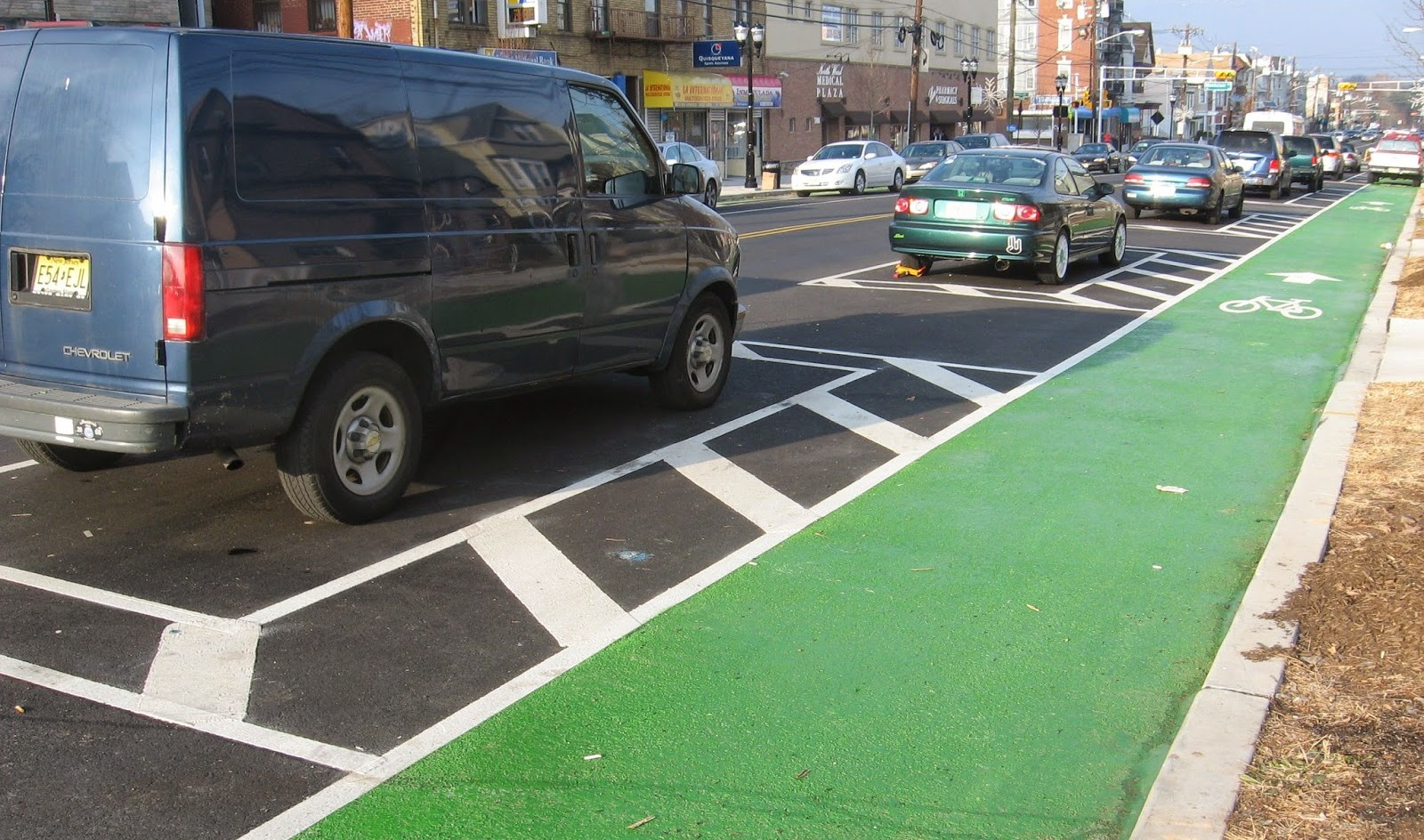 Newark Clears Bike Lane of Cars, Solves Parking Problem With ...