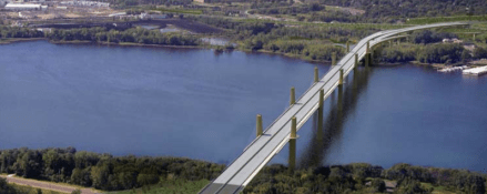 "The cost to construct this bridge ($600 million) is more than the estimated $500 million it would cost to bring Minnesota's 1,191 ""structurally deficient"" bridges into a state of good repair. Guess which the state is moving ahead with. Image: Minnesota DOT"