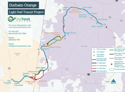 Durham-Orange light rail is expected to draw 23,000 daily riders. Image: GoTriangle