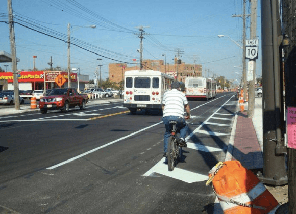 This Cleveland cyclist hasn't gotten the memo about how biking in traffic is