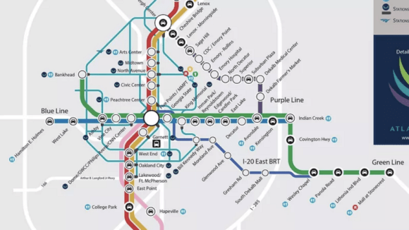 This dream map of Atlanta transit is looking more and more possible. Map: Jason Lathbury via Curbed