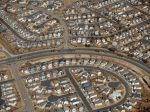 Build a house in sprawl in Calgary, pay a fee. Photo: Wikipedia