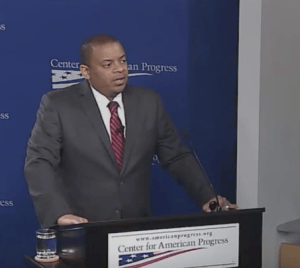 U.S Transportation Secretary Anthony Foxx spoke at the Center for American progress today about the legacy of discrimination in transportation. Image: CAP