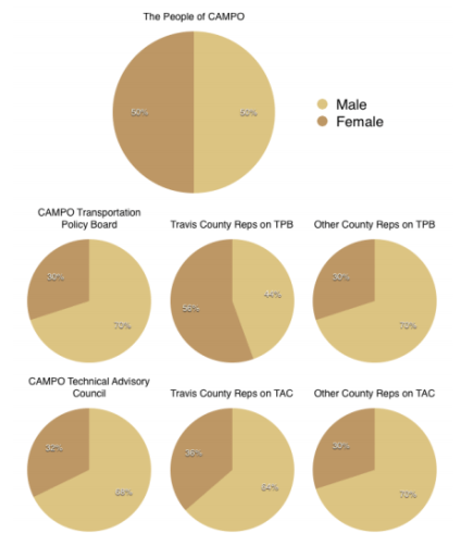 Women's representation on CAMP's most important boards. Graph: Jay Crossley. Click to enlarge.