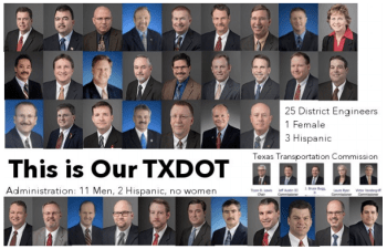 The Texas Department of Transportation isn't exactly a model of diversity either. Image: Jay Crossley