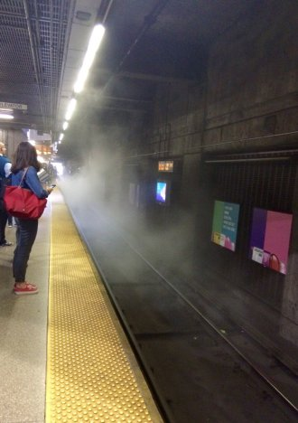 An MBTA Orange Line train caught fire last week in Boston. Photo: JIlly Sull