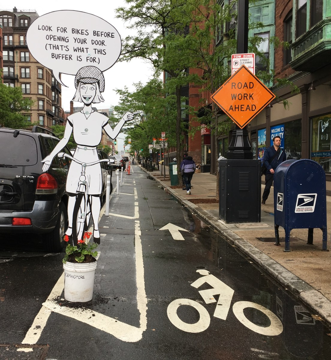 After Boston's Mayor Blames Crash Victims, Pop-Up Comics Push for Better Bike Lanes