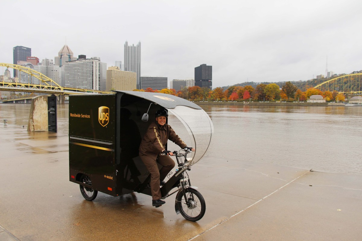 Ups Kicks Off Year Round E Trike Delivery Service In