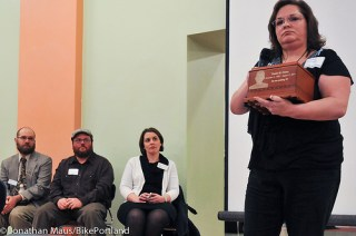 Portland's Kristi Finney, whose son was killed by a drunk driver, is pushing for an Amber Alert-like notification system to catch the perpetrators in hit-and-run crashes. Photo: Bike Portland