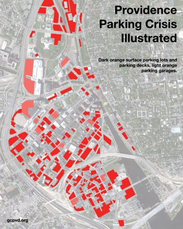 A visual inventory of parking in downtown Providence. Image: Greater City Providence