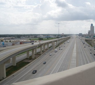 Twenty-three lanes for the Katy Freeway and traffic is moving 51 percent slower. Photo: Houston Tomorrow