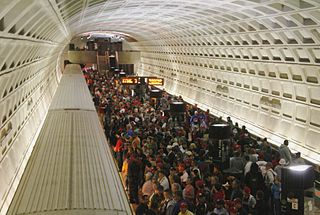 Fans pack Metro train after a Nationals game. Photo: Wikipedia