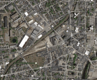 This is the area that will be served by Pawtucket-Providence commuter rail. Photo: Google Maps via Sandy Johnson
