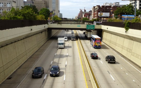 Chinatown residents want to see Philadelphia's Vine Street Expressway capped. Photo: Philadelphia Encyclopedia