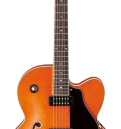 aes1500b aes semi hollow series archtop electric guitar with bigsby tremolo [ 1424 x 3655 Pixel ]