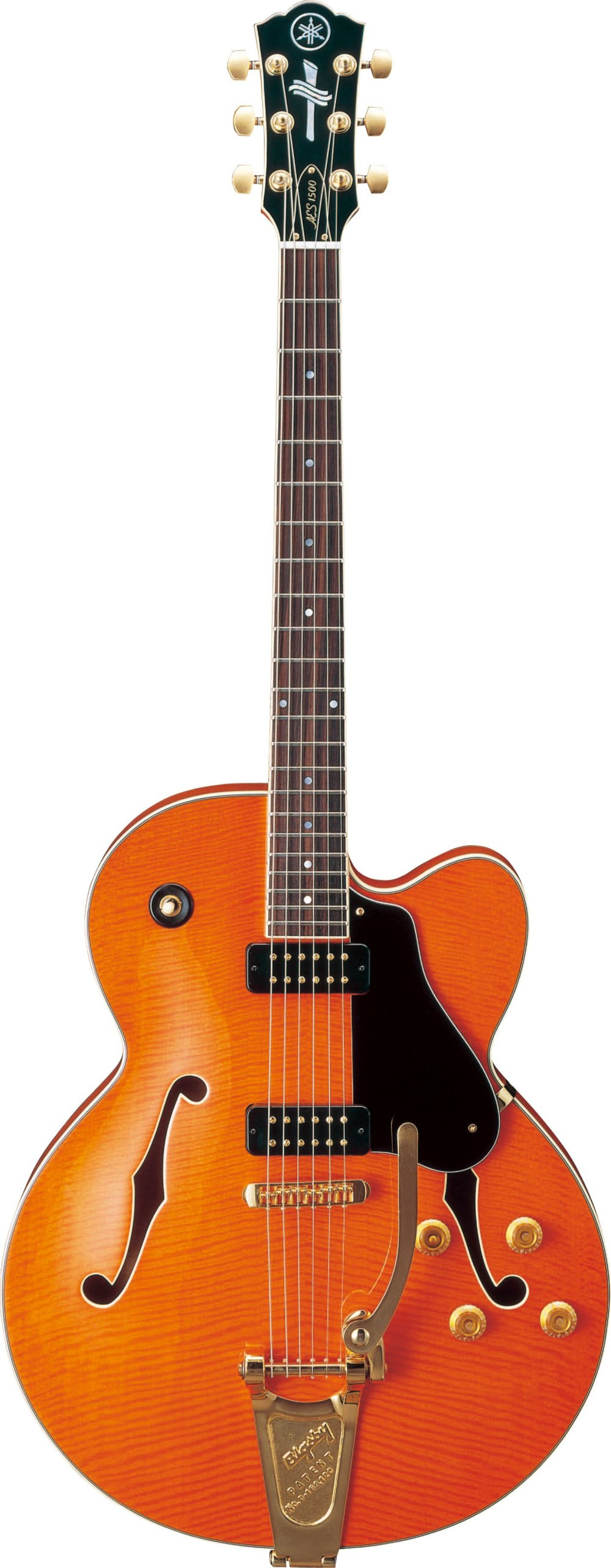 medium resolution of aes1500b aes semi hollow series archtop electric guitar with bigsby tremolo