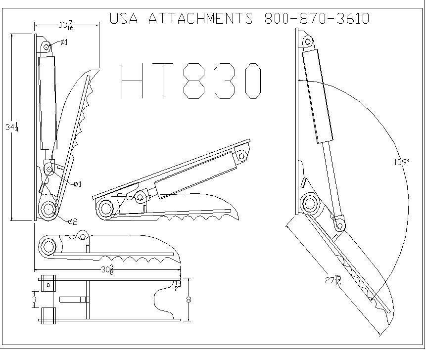 Hydraulic Mini Excavator Thumb 8